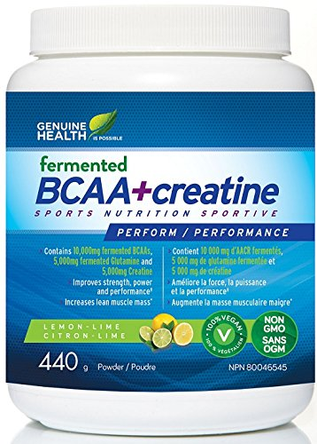 BCAA + Creatine (440g) Brand: Genuine Health recommended by Precision Nutrition For Sale