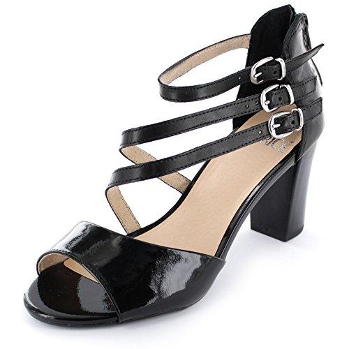 mujer 28313 26 vestir Caprice 011 99 para negro de Sandalias 8qnRC5w