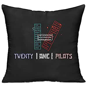 Blue Red Stylish Throw Pillow One Size