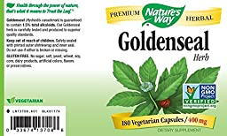 Nature\'s Way Goldenseal Herb, 400mg, 180-Capsules