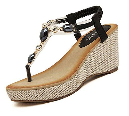 bb84b4cceba1d8 Acheter des sandales compensées pour femme   MA-CHAUSSURE.fr