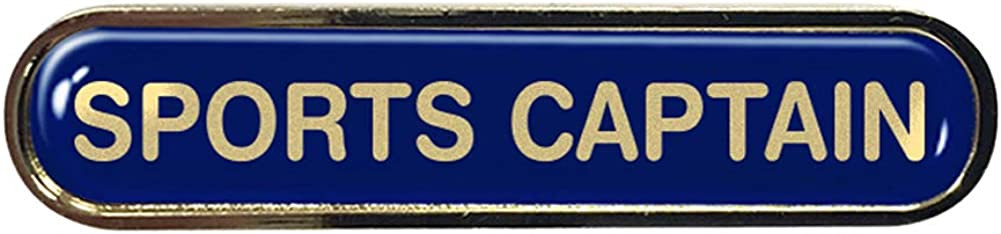 Sports Captain Gel Domed School Bar Badge