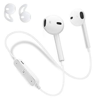 Auriculares Inalambricos Bluetooth 4.2, Sin Cable con Micrófono Cancelación de Ruido Mini Earbuds Deportivos con Reducción de Ruido para Running Correr ...