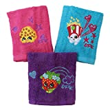 Kohl's Shopkins 100% Cotton Terry Cloth Pack of 6 Washcloths for Kids Bath - 12'' x 12''