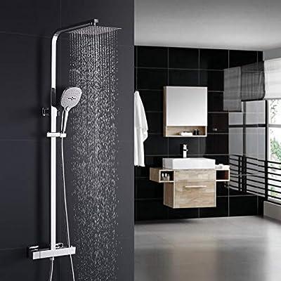 WOOHSE - Set de ducha con termostato, columna de ducha con ...