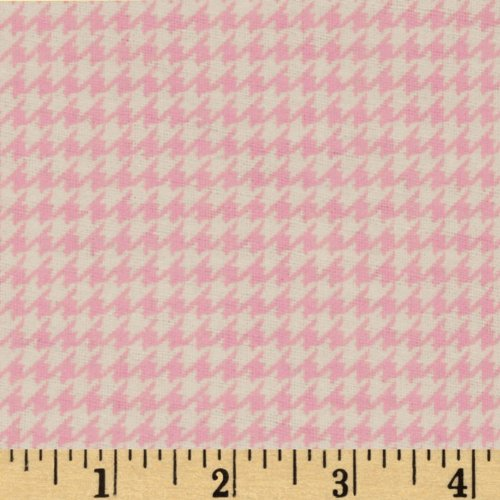 (A.E. Nathan Comfy Flannel Houndstooth Pink Fabric by The Yard,)