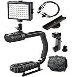 Sevenoak MicRig Video Bundle with Grip Handle, Stereo Microphone, 54 LED Light, Shoe Extender Bracket, Windscreen, Adapters for DSLR Cameras, Smartphones and GoPro