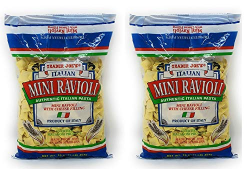 - Trader Joe's - Italian Mini Ravioli With Cheese Filling NET WT.16 OZ (1 LB) 454g - 2-PACK