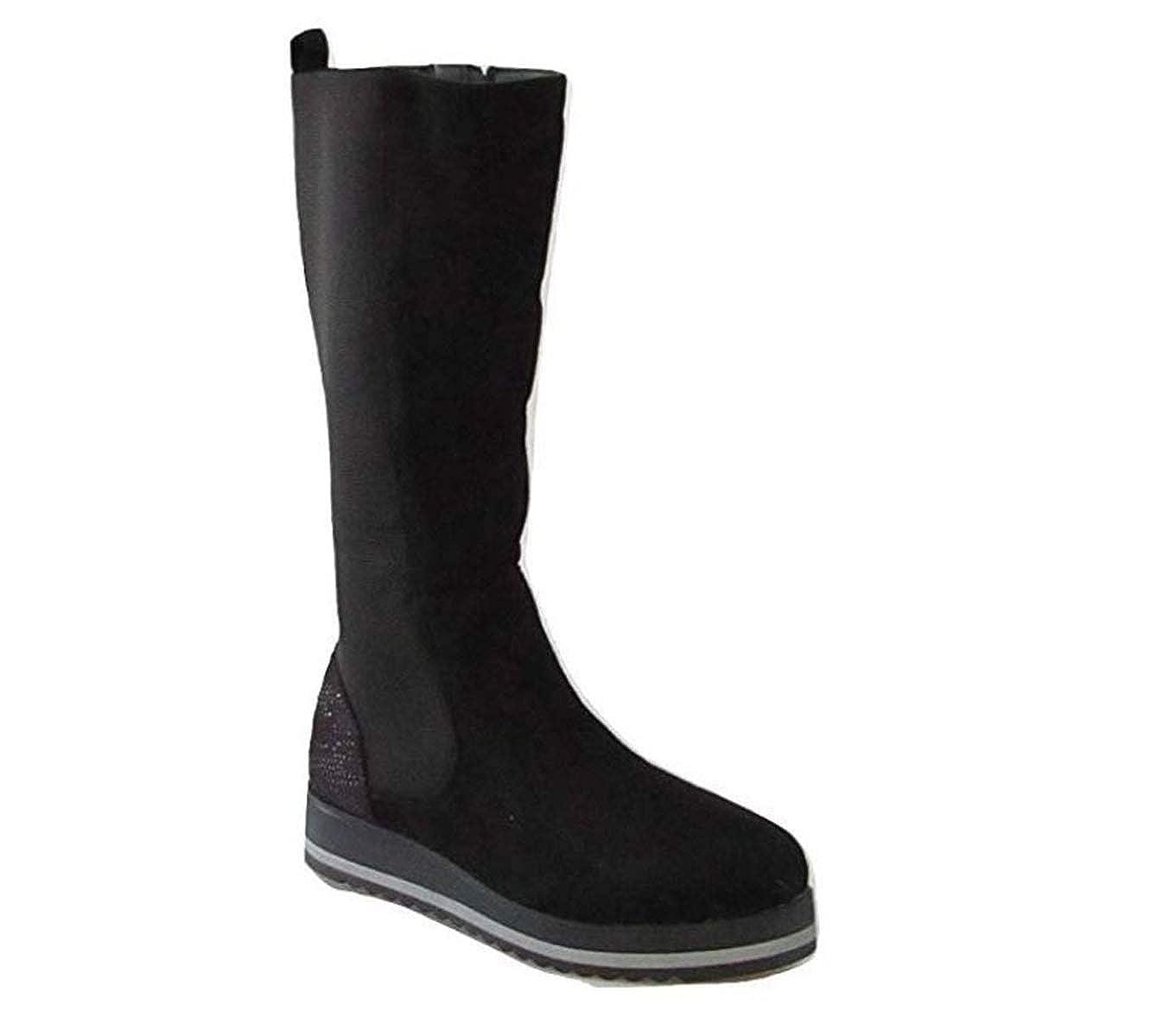 Onyx schuhe damen Stiefel camoscio schwarz schwarz schwarz W18-SOX305 a38d41