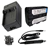Battery + Charger for Sony NP-FM30, NP-FM50 and Sony Cyber-shot DSC-F707, DSC-F717, DSC-F828, DSC-R1, DSC-S30, DSC-S50, DSC-S70, DSC-S75, DSC-S85 Digital Camera and Sony MVC-CD200, MVC-CD250, MVC-CD300, MVC-CD350, MVC-CD400, MVC-CD500 Mavica Digital Camera