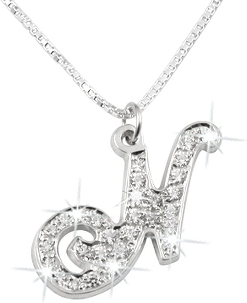 Personalized Silver Initial Name Necklace