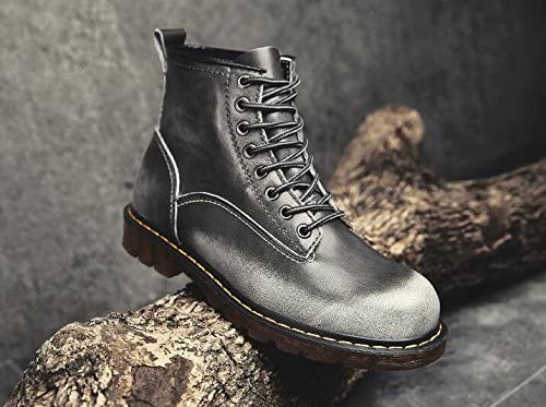 Jackdaine New Men s Fashion Casual Martin Boots Leather High Plus Velvet Boots
