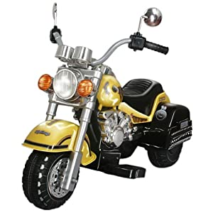 Merske Harley Style Chopper Style Motorcycle, Yellow