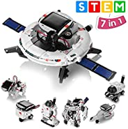 Solar Robot Toys 7 in 1 STEM Learning Kits Educational Space Moon Exploration Fleet Building Experiment Toys D