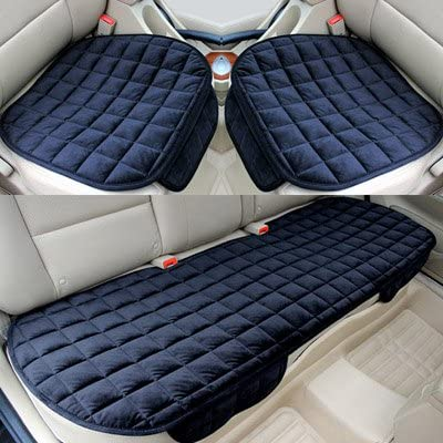 Universal Car Seat Cover Rear Seat Cushion Non-slip Plush Car Seat Protector Mat