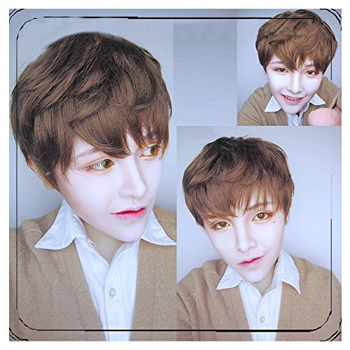 35cm Light Brown Wig Cosplay Original Exclusive Brother Handsome Guy Male Models Lolita Harajuku Male Short Wig by CHC FAIRY