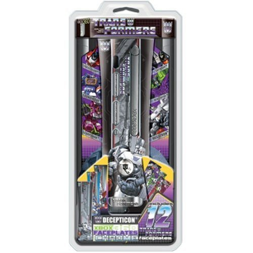 (Core Gamer XB3-07375 12 Decepticons Faceplates for XBox 360 with Chrome Finish)