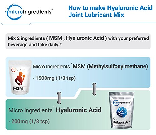 Micro Ingredients Pure MSM Powder – Support Joint Health (1 kg / 2.2 lb)