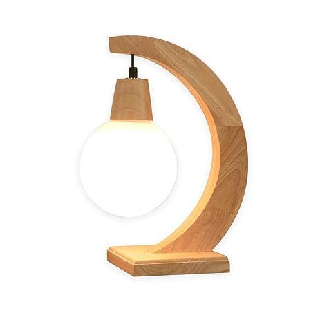 YXN Nordic Treat lámpara de cabecera de Madera Maciza lámpara de ...
