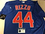 Anthony Rizzo Autographed Signed Authentic Majestic Blue Chicago Cubs Jersey Certified Authentic Hologram & Coa Card