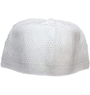 41eb6590789 Al-Ameen Set 4 Muslim Beanie Skull Cap Islam Kufi Topi Prayer Hat Crochet  Taqiyah Takke. 3