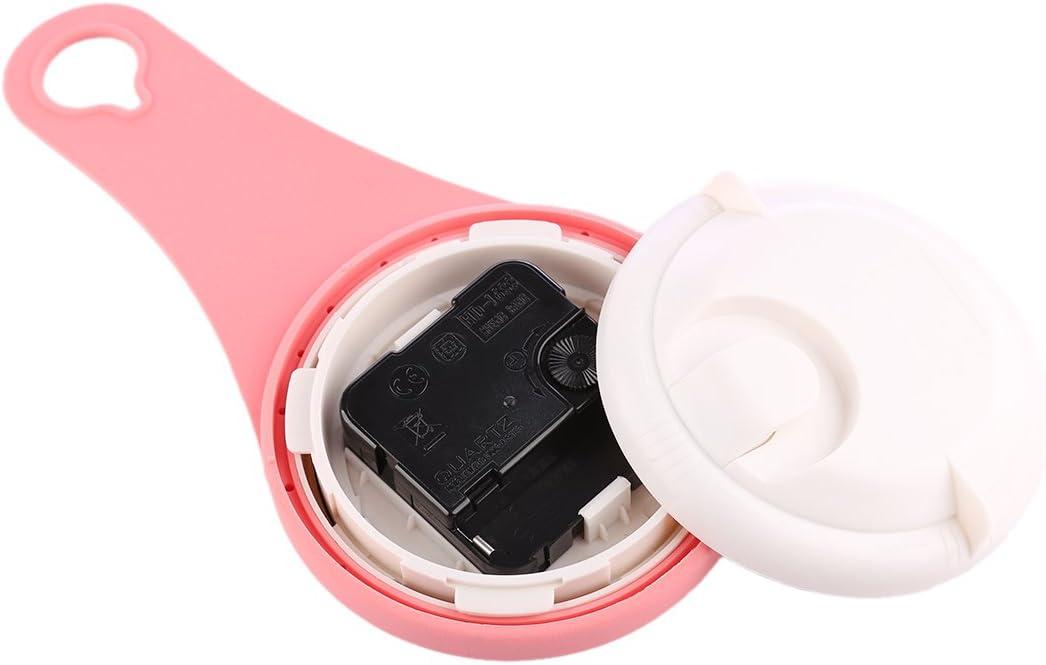 Rosa 11X21,6X4 cm Txxci Horloge de salle de bain /étanche /à ventouse nicht-Tick Extr/émit/é Horloge de salle de bain
