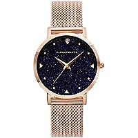 Women's Fashion Watches for Sale Rose Gold Mesh Stainless Steel Bracelet Wrist Watch Starry Sky Rhinestone Face Luxury Lady Watch 36mm Waterproof