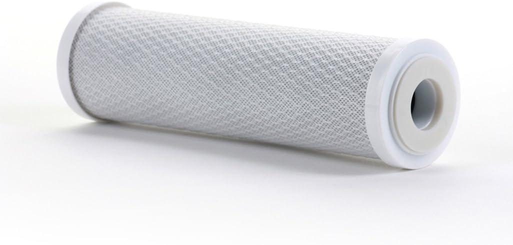 Hydronix CB-25-1005 NSF Carbon Block Filter 2.5 OD X 9 7//8 Length 5 Micron 2-Pack