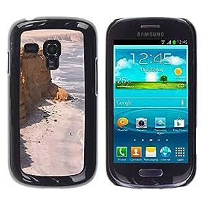 TopCaseStore / la caja del caucho duro de la cubierta de protección de la piel - Seashore Desert Ocean Sand Beach - Samsung Galaxy S3 MINI NOT REGULAR! I8190 I8190N