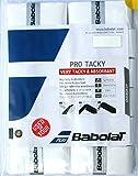 Babolat Pro Tacky Tennis Overgrip 12 Pack - White - Very Tacky