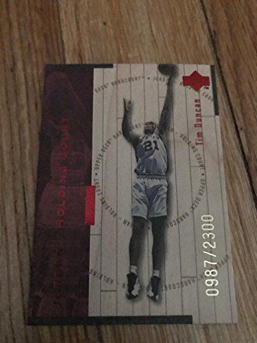 1998-1999 Upper Deck NBA Hardcourt Holding Court Tim Duncan & Michael Jordan Card Limited Edition 0987/2300! Chicago Bulls & San Antonio Spurs