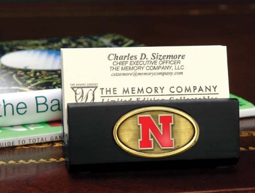 (The Memory Company NCAA University of Nebraska Official Black Business Card Holder, Multicolor, One Size)