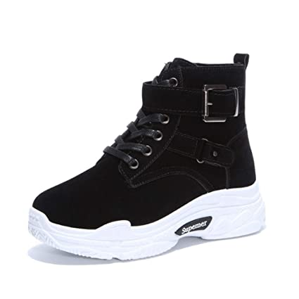 SHANGWU Botas para Caminar Zapatillas de Deporte Impermeables/hi-Top Forro de Piel sintética