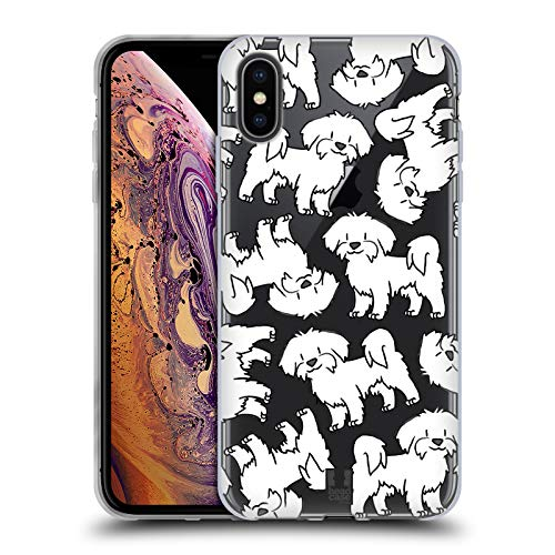 (Head Case Designs Maltese Dog Breed Patterns 4 Soft Gel Case for iPhone Xs Max)