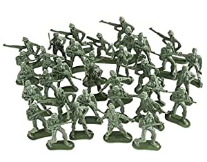 Army Toy Soldiers Action Figures ( Green ) - Assorted -144 Pack Deluxe - For Children, Boys, Girls, GI Joes, Parties, Gifts, Party Favors - Kidsco