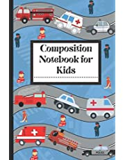 Composition Notebook for Kids: Emergency vehicle notebooks | back to school supplies | add on item