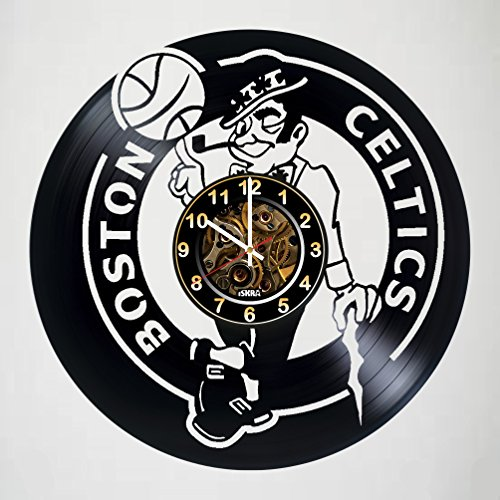 Celtics - Boston - Jersey - Handmade Vinyl Record Wall CLock - Get unique gifts presents for birthday, Christmas, anniversary - Gift ideas for boys, girls, men, women, adults, him ()