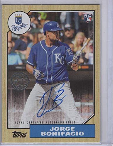 Jorge Bonifacio (Baseball Card) 2017 Topps Update Series - 1987 Rookies and Trades - Autographs [Autographed] -