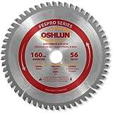 Oshlun SBFT-160056A 160mm 56 Tooth FesPro Non Ferrous TCG Saw Blade with 20mm Arbor for Festool TS 55 EQ, DeWalt DWS520, and Makita SP6000K