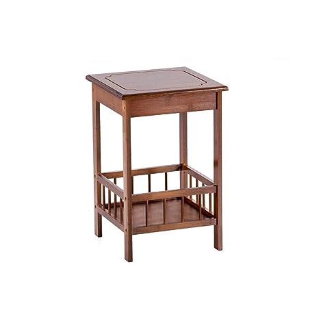 Xilinshop Mesa Lateral Duradera Cuadrada Mueble de Almacenamiento ...