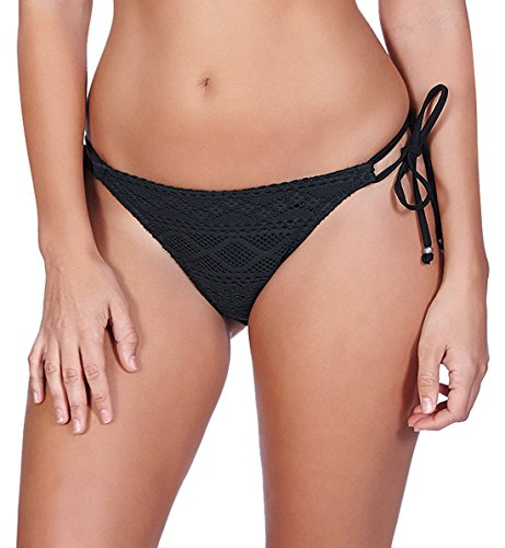 Freya Sundance Rio Side Tie Bikini Bottom, L, Black ()