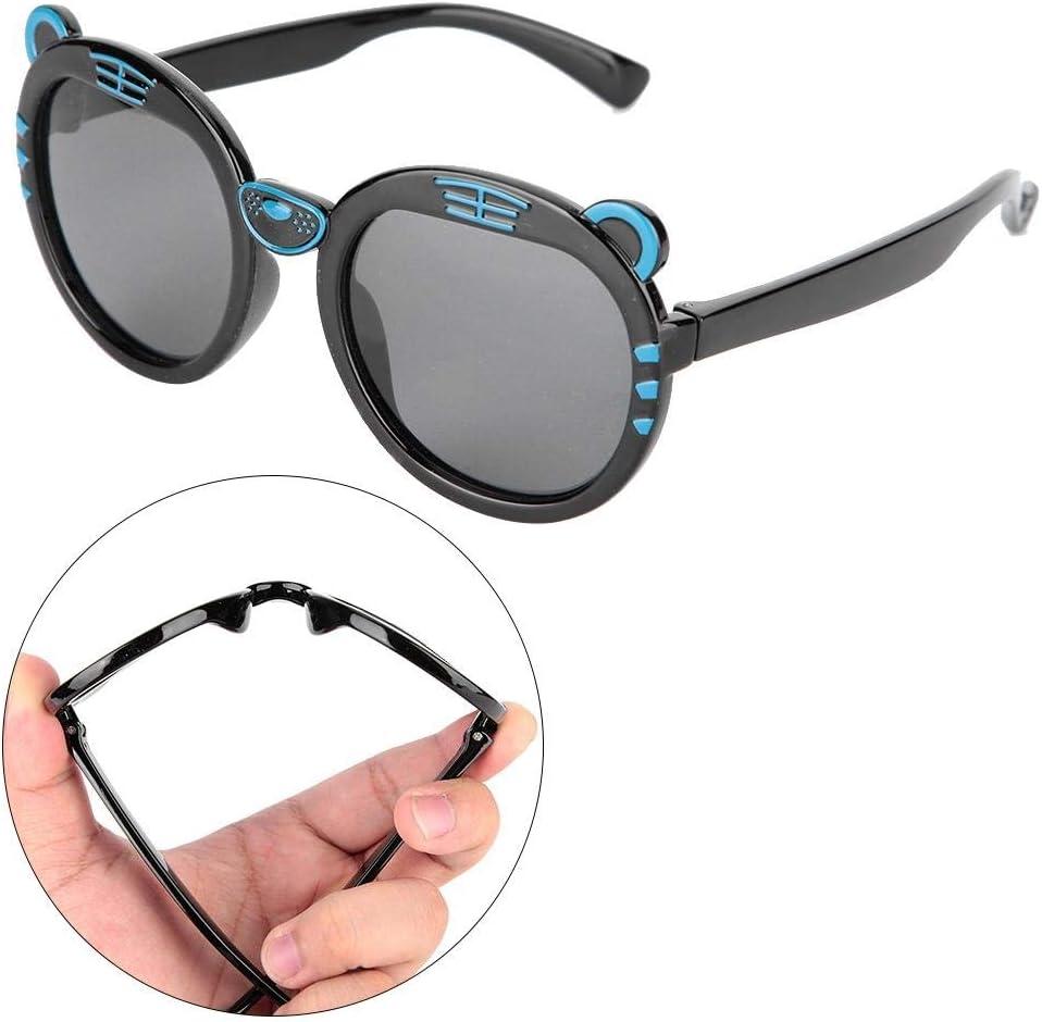 Lunettes de soleil douces en gel de silice pour les enfants avec des lunettes de soleil anti-UV pour enfants Rose