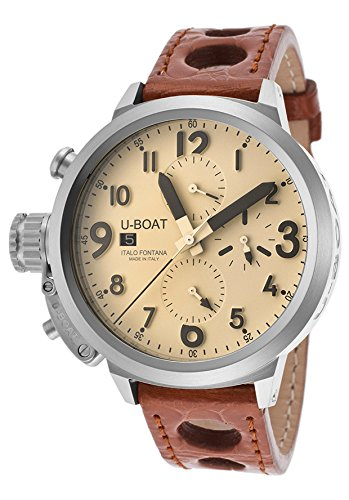 U-Boat Men's Flightdeck Automatic Chronograph Brown Genuine Crocodile