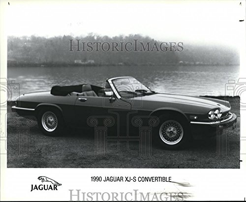 Vintage Photos 1990 Press Photo 1990 Jaguar XJ-S Convertile Auto - Xjs Models