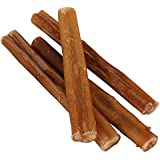 """7"""" Straight Bully Sticks for Dogs or Puppies (50 Pack) All Natural & Odorless Bully Bones 