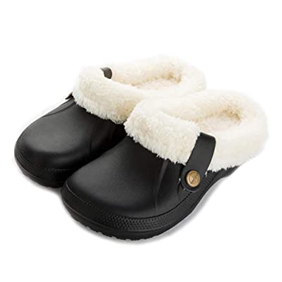 Amazon.com | Aganmi Women Men Mules Fur Lined Clogs-House Slippers Winter Home Shoes -Non-Slip Winter Warm Indoor & Outdoor Footwear | Slippers