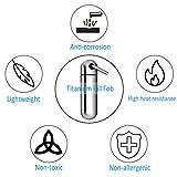 NUBARKO Keychain Pill Holder Titanium Mini Pill Fob Emergency Aspirin & Nitroglycerin Pill Holder for Men and Women, Waterproof, Light Weight and Non Allergenic