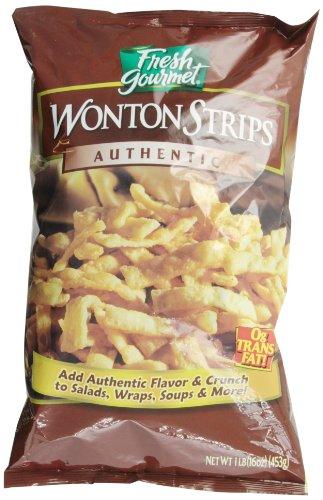 Fresh Gourmet Won Ton Strips, Authentic, 1 lb