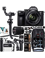 $2599 » Sony a7 III Full-Frame Alpha Mirrorless Digital Camera a7III + 28-70mm Lens ILCE-7M3/K Filmmaker's Kit with DJI RSC 2 Gimbal 3-Axis Handheld Stabilizer Bundle + Deco Photo Backpack + Software