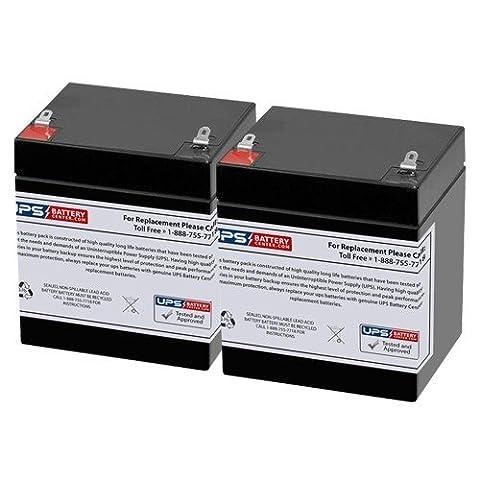 Chamberlain HD800D 24 Volt Sealed Lead Acid Replacement Battery - Set of 2 - 24v Lead Acid Battery